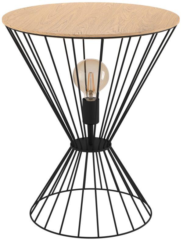 Desierto tafellamp - zwart - bruin Eglo Tafellamp 99794-EGLO