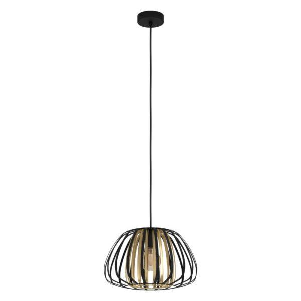 Encinitos hanglamp - zwart - goud Eglo Hanglamp 99666-EGLO