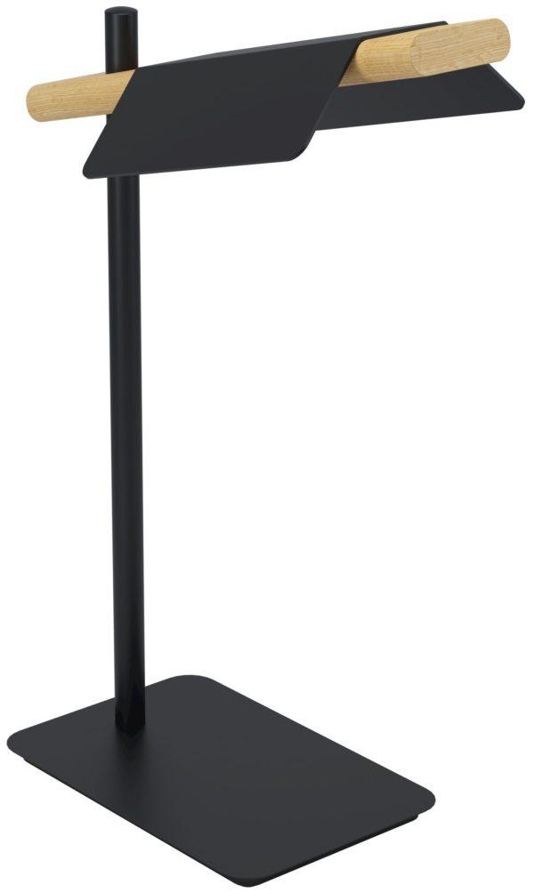 Ermua tafellamp - zwart - bruin Eglo Tafellamp 98837-EGLO