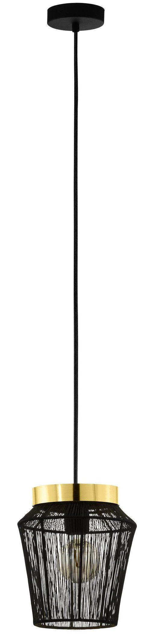 Escandidos hanglamp - zwart - geelkoper Eglo Hanglamp 99806-EGLO
