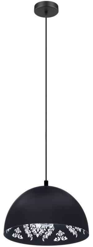 Hanglamp congresbury e27 d380 zwart/wit - zwart Eglo Hanglamp 43472-EGLO