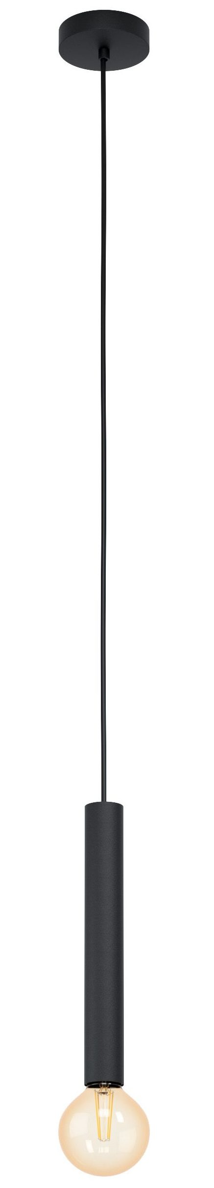 Hanglamp cortenova 1li e27 zwart - zwart Eglo Hanglamp 98056-EGLO