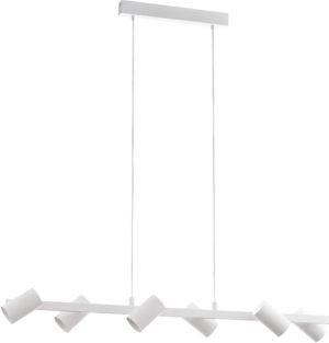 Hanglamp gatuela 6li e14 l1160 wit - wit - nikkel-mat Eglo Hanglamp 98687-EGLO