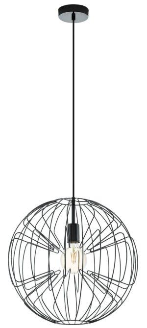 Hanglamp okinzuri e27 d450 nikkel nero - nikkel-nero Eglo Hanglamp 98688-EGLO