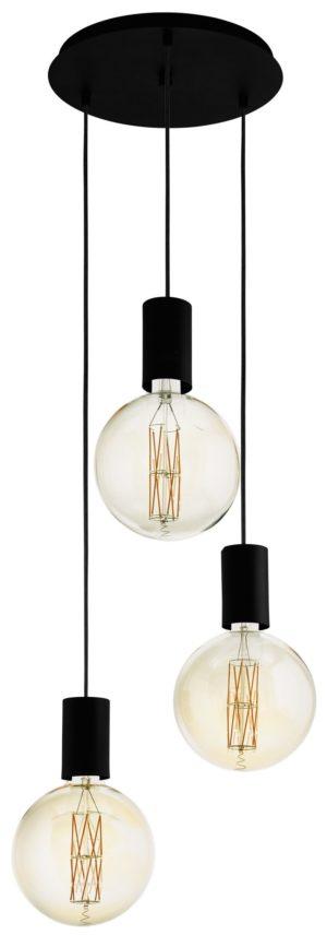 Hanglamp pozueta 1li e27 d340 zwart - zwart Eglo Hanglamp 98663-EGLO