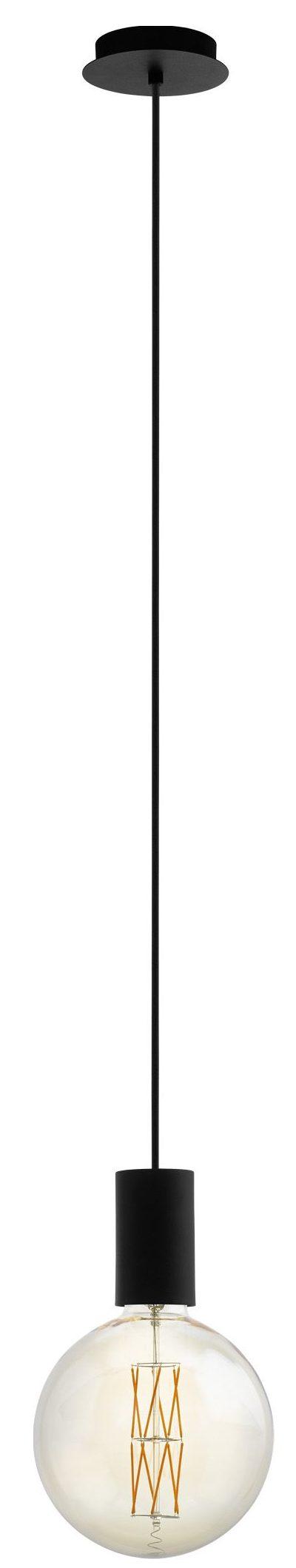 Hanglamp pozueta 1li e27 zwart - zwart Eglo Hanglamp 98661-EGLO