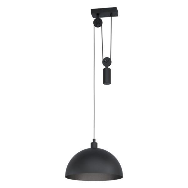Hanglamp winkworth1 e27 d380 katrol zwart - zwart Eglo Hanglamp 43435-EGLO