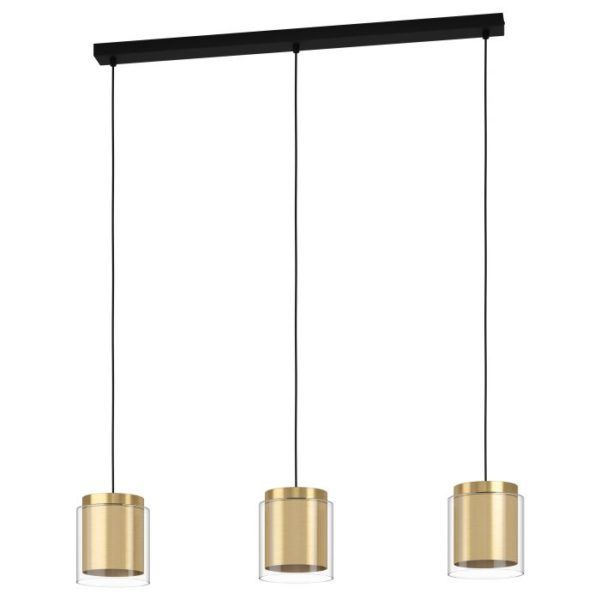 Lagunitas hanglamp - zwart - geelkoper - goud Eglo Hanglamp 99654-EGLO