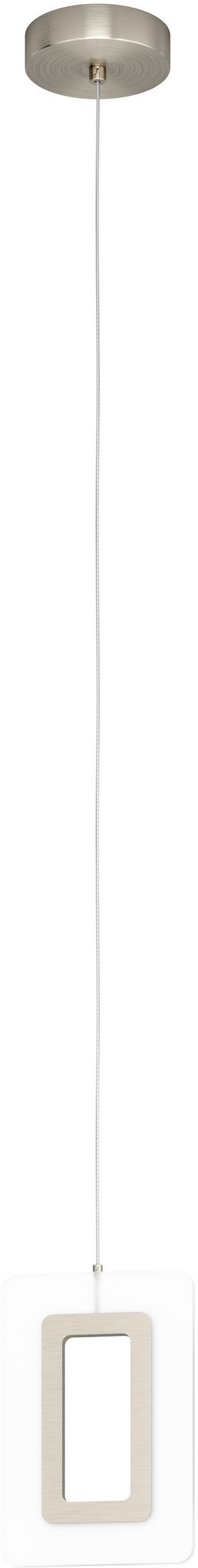 Led hanglamp enaluri 1x 5,4w l140 wit/nik.mat - nikkel-mat Eglo Hanglamp 98678-EGLO