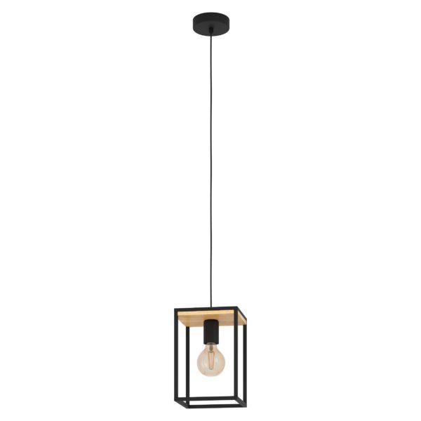 Libertad hanglamp - zwart - bruin Eglo Hanglamp 99795-EGLO