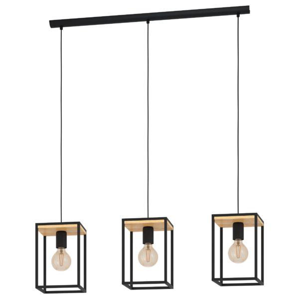 Libertad hanglamp - zwart - bruin Eglo Hanglamp 99855-EGLO