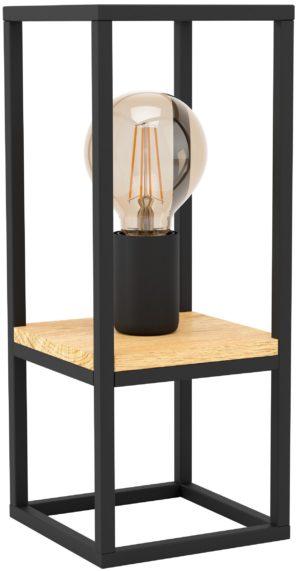 Libertad tafellamp - zwart - bruin Eglo Tafellamp 99797-EGLO