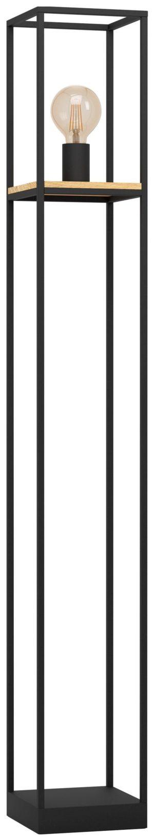 Libertad vloerlamp - zwart - bruin Eglo Vloerlamp 99798-EGLO
