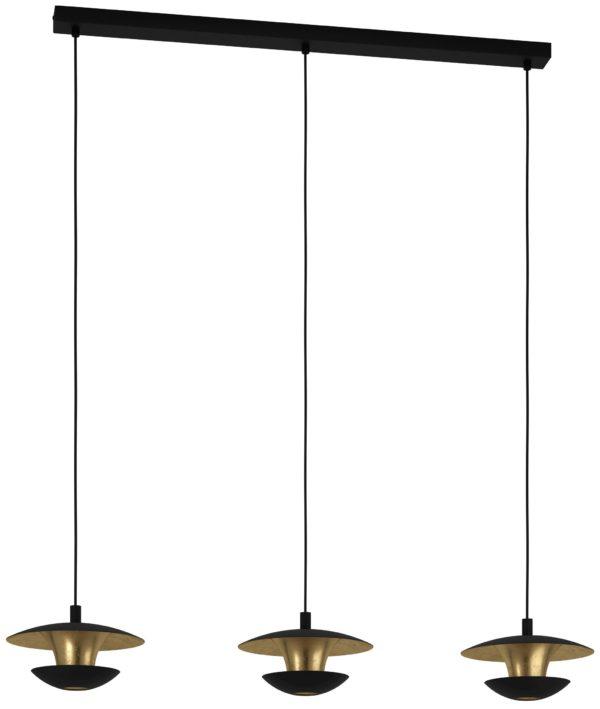 Nuvano hanglamp - zwart - goud Eglo Hanglamp 99663-EGLO