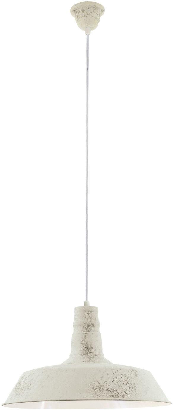 Somerton 1 hanglamp - wit gekalkt Eglo Hanglamp 49398-EGLO
