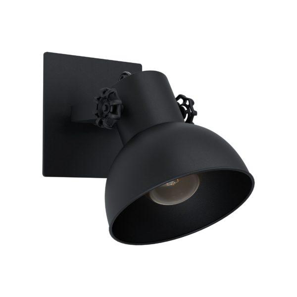 Spot barnstaple1 1li e27 mat zwart - zwart Eglo Spot 43431-EGLO