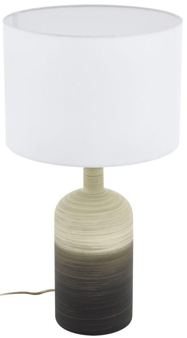 Tafellamp azbarren e27 h535 keramiek beige/grijs - beige Eglo Tafellamp 39753-EGLO
