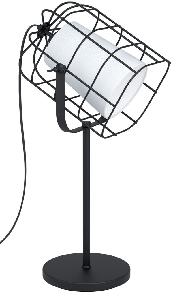 Tafellamp bittams e27 zwart/wit - zwart Eglo Tafellamp 43421-EGLO