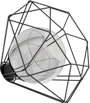Tafellamp vernham e27 zwa/titanium glas - zwart Eglo Tafellamp 43484-EGLO