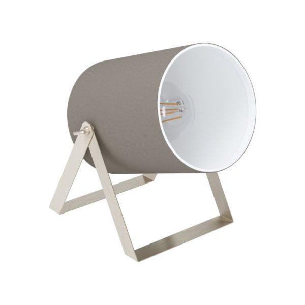 Tafellamp villabate1 e27 nik.mat/zwart stof - nikkel-mat Eglo Tafellamp 99104-EGLO