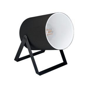 Tafellamp villabate1 e27 wit/wit stof - zwart Eglo Tafellamp 99103-EGLO