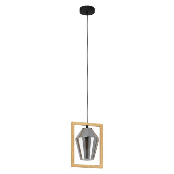 Viglioni hanglamp - zwart - bruin Eglo Hanglamp 99701-EGLO