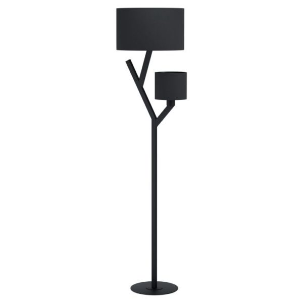 Vloerlamp balnario e27 h1630 zwart - zwart Eglo Vloerlamp 39889-EGLO