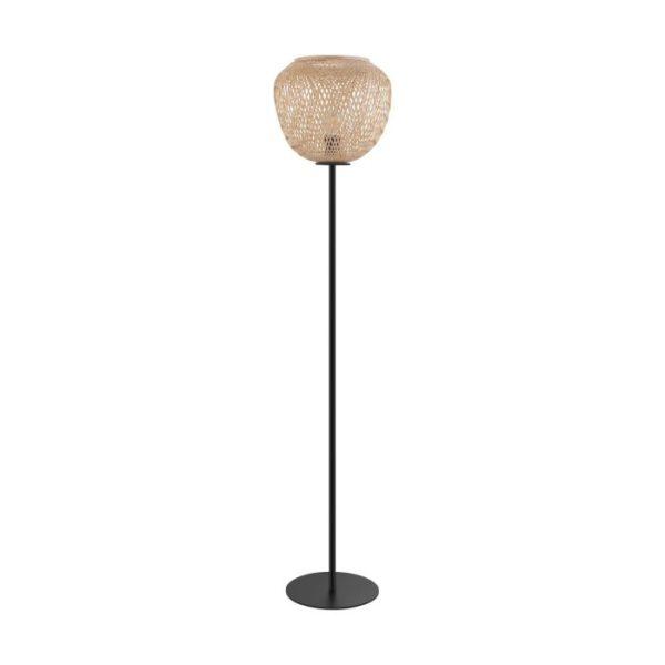 Vloerlamp dembleby e27 h1500 zwa/natuur - zwart Eglo Vloerlamp 43264-EGLO