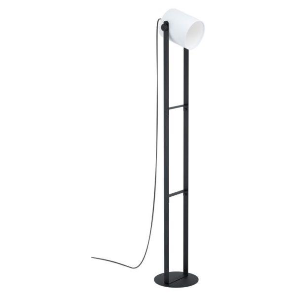 Vloerlamp hornwood1 e27 h1360 zwart/wit - zwart Eglo Vloerlamp 43429-EGLO