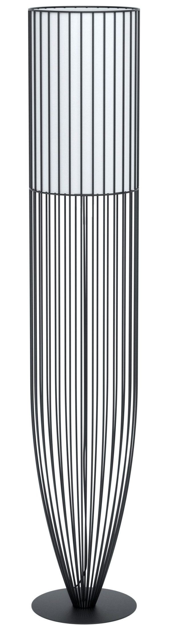 Vloerlamp nosino e27 h1310 zwart/wit stof - zwart Eglo Vloerlamp 99102-EGLO