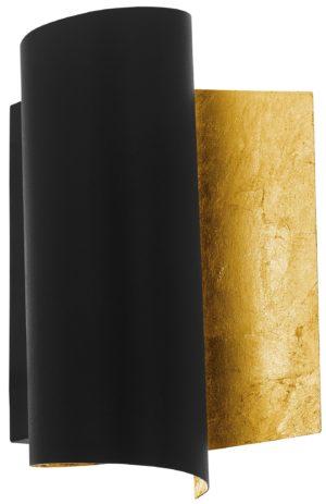 Wandlamp falicetto e27 b160/h250 zwart/goud - zwart - goud Eglo Wandlamp 98759-EGLO