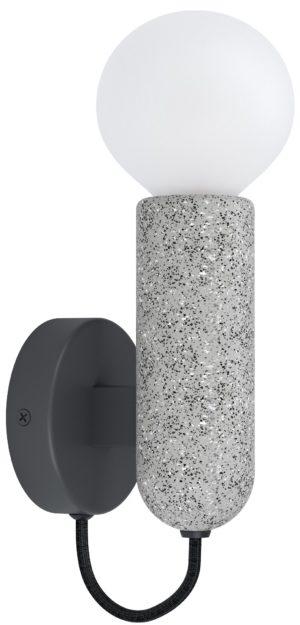 Wandlamp giaconecchia e27 grijs betonlook - antraciet Eglo Wandlamp 39834-EGLO