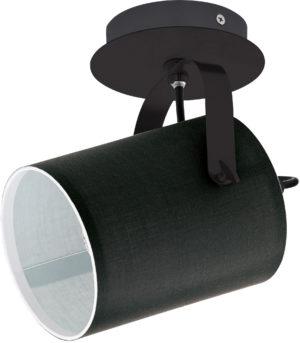 Wandspot/1 e27 10w zwart 'villabate' - zwart Eglo Wandlamp 33645-EGLO