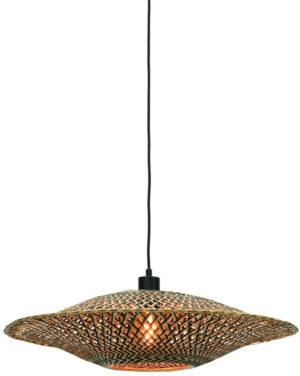 Hanglamp Bali bamboe horiz. 60x15cm zwart/naturel, M Good & Mojo Hanglamp BALI/H/6015/BN