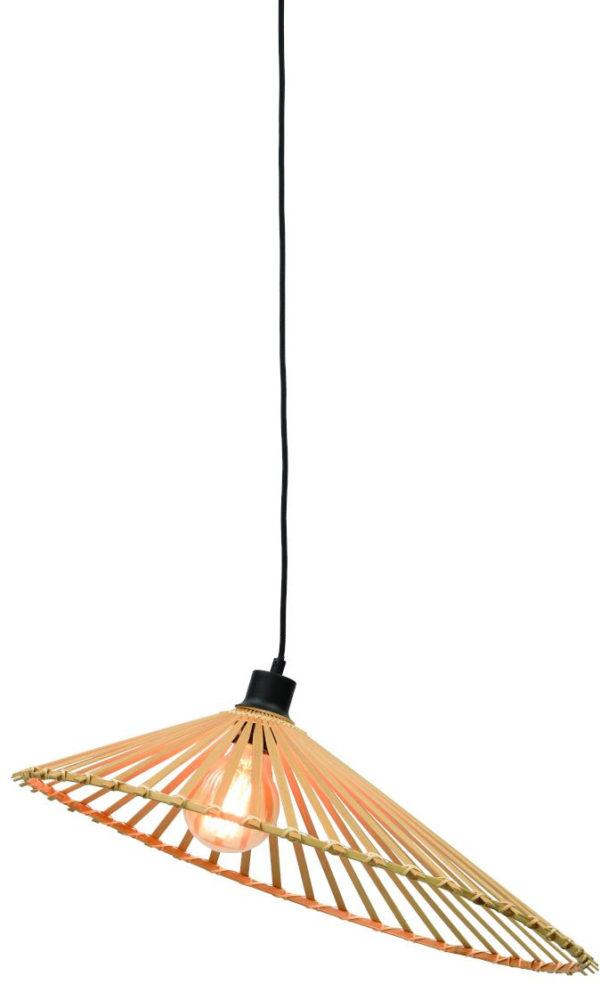 Hanglamp Bromo bamboe asymm. dia.60x13cm naturel, L Good & Mojo Hanglamp BROMO/H60/N