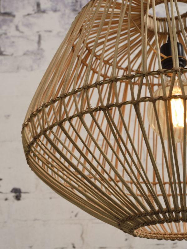 Hanglamp Madagascar rotan dia.60xh.50cm, naturel Good & Mojo Hanglamp MADAGASCAR/H50/N