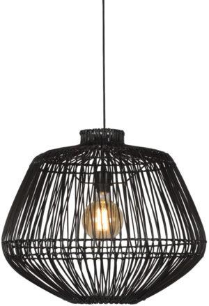 Hanglamp Madagascar rotan dia.60xh.50cm, zwart Good & Mojo Hanglamp MADAGASCAR/H50/B