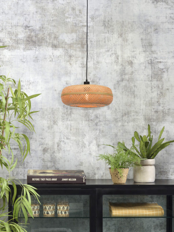 Hanglamp Palawan bamboe 40x15cm naturel, S Good & Mojo Hanglamp PALAWAN/H/4015/N