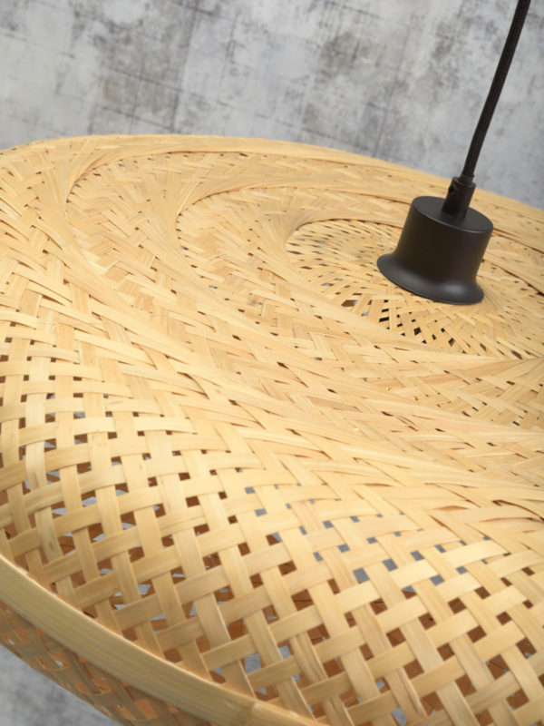 Hanglamp Palawan bamboe 60x15cm naturel, L Good & Mojo Hanglamp PALAWAN/H/6015/N