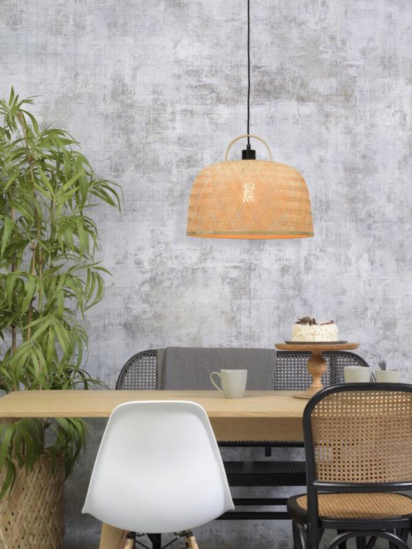 Hanglamp Serengeti bamboe/hengsel dia.40x32cm naturel, S Good & Mojo Hanglamp SERENGETI/H/4032/N
