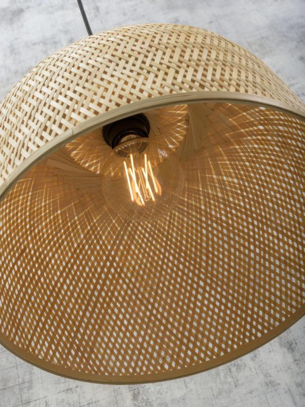 Hanglamp Serengeti bamboe/hengsel dia.50x44cm naturel, L Good & Mojo Hanglamp SERENGETI/H/5044/N