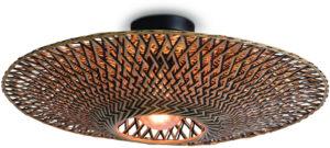 Plafonniere Bali bamboe dia.60x15cm zwart/naturel, M Good & Mojo Plafondlamp BALI/C/6015/BN