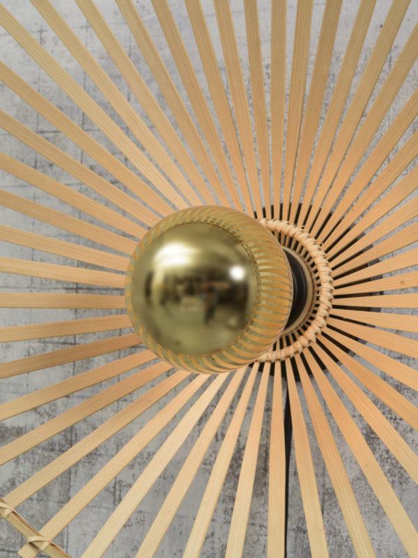 Plafonniere Bromo bamboe asymm. dia.40x11cm naturel, S Good & Mojo Plafondlamp BROMO/C40/N