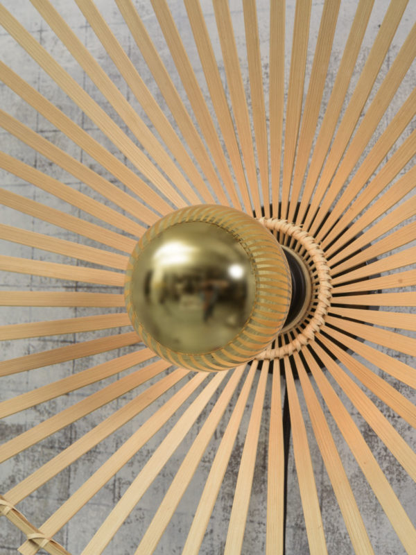 Plafonniere Bromo bamboe asymm. dia.50x12cm naturel, M Good & Mojo Plafondlamp BROMO/C50/N