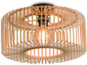 Plafonniere Bromo bamboe rond dia.40x18cm naturel, S Good & Mojo Plafondlamp BROMO/C/4018/N