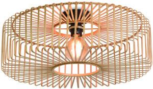 Plafonniere Bromo bamboe rond dia.60x18cm naturel, L Good & Mojo Plafondlamp BROMO/C/6018/N