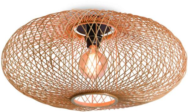 Plafonniere Cango bamboe ellips dia.60x25cm naturel Good & Mojo Plafondlamp CANGO/C/6025/N