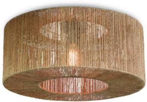 Plafonniere Iguazu jute rond/recht dia.60x25cm naturel, L Good & Mojo Plafondlamp IGUAZU/C/6025/N