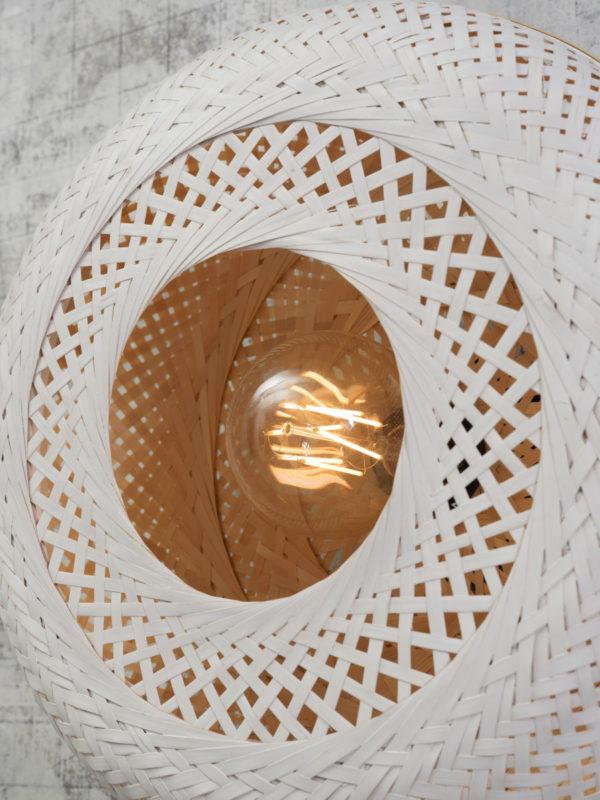 Plafonniere Palawan bamboe 40x15cm, nat./wit, S Good & Mojo Plafondlamp PALAWAN/C/4015/WN