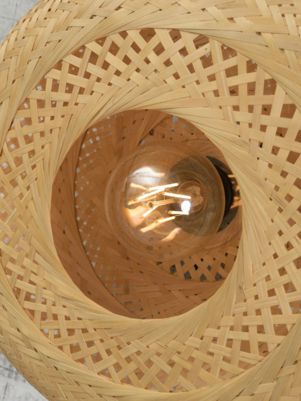 Plafonniere Palawan bamboe 40x15cm naturel, S Good & Mojo Plafondlamp PALAWAN/C/4015/N